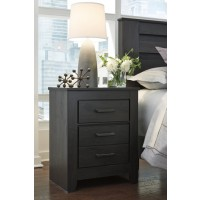Brinxton - Black - Two Drawer Night Stand