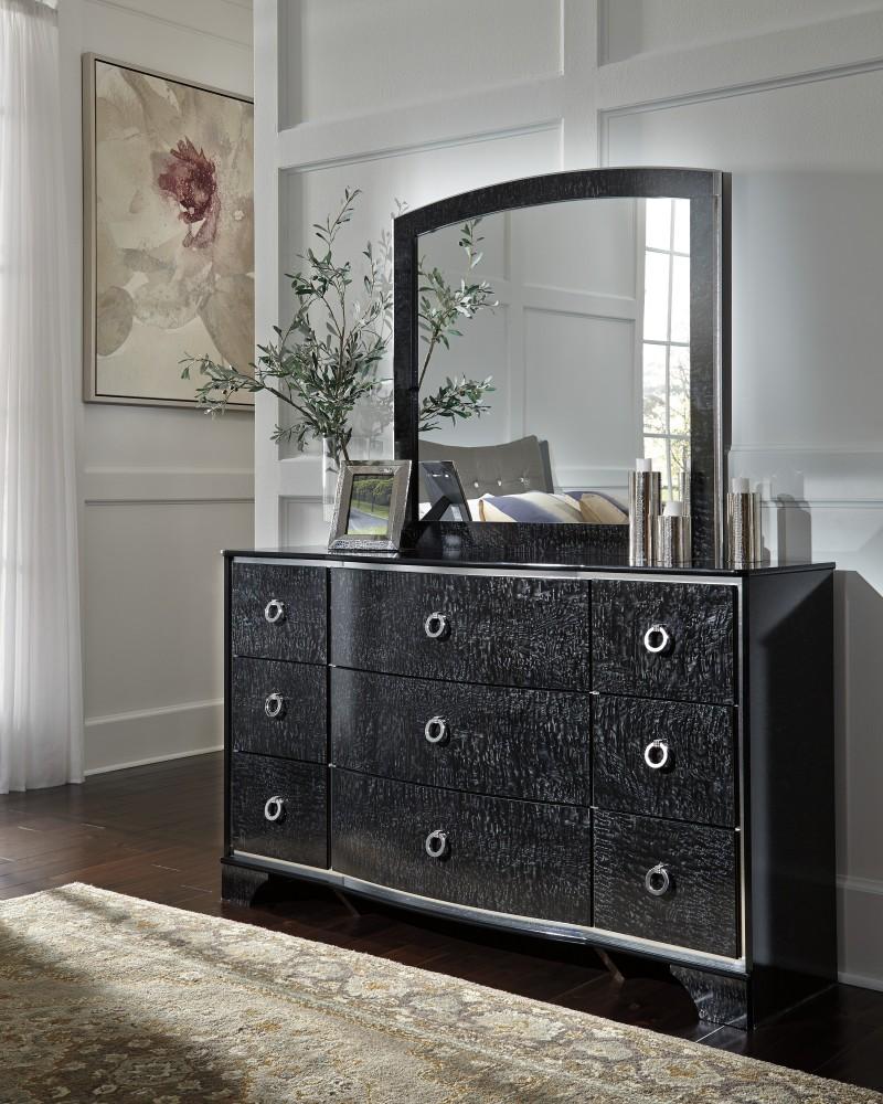 Amrothi - Black - Bedroom Mirror | B257-36 | Mirrors | Dunlop Family ...