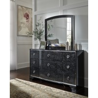 Amrothi - Black - Bedroom Mirror