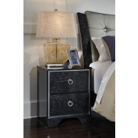 Amrothi - Black - Two Drawer Night Stand