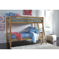 Hallytown - Light Brown - Twin/Twin Bunk Bed w/Ladder