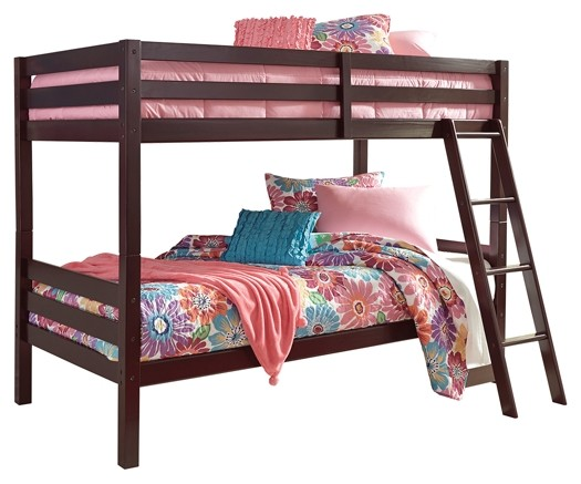 Halanton Twin Over Twin Bunk Bed With Ladder B328 59 Bunk Beds