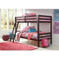 Halanton - Dark Brown - Twin/Twin Bunk Bed w/Ladder