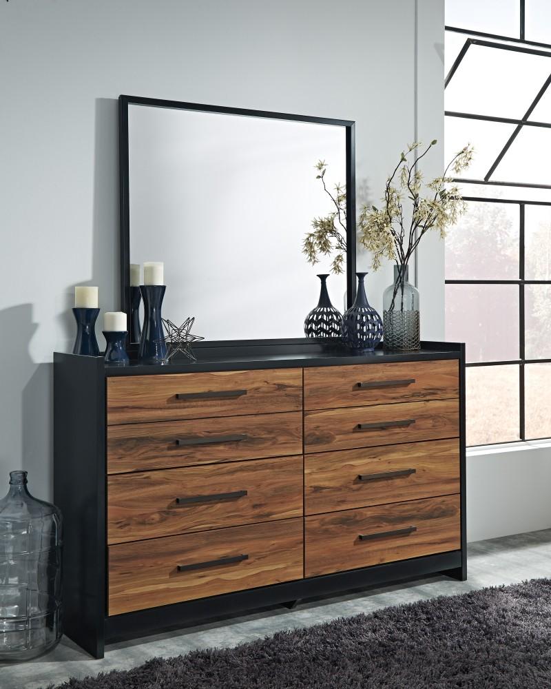 Stavani - Black/Brown - Bedroom Mirror
