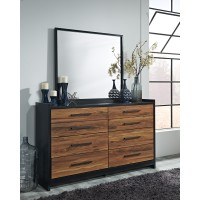 Stavani - Black/Brown - Bedroom Mirror