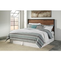 Stavani - Black/Brown - King/Cal King Panel Headboard
