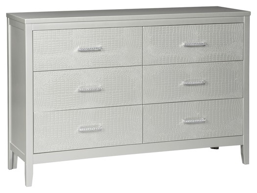 Signature Design by Ashley Olivet Silver Two Drawer Night Stand