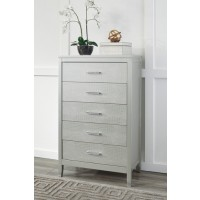Olivet - Silver - Five Drawer Chest