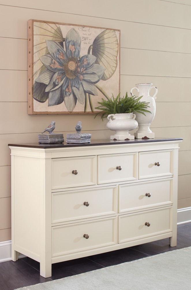 Woodanville - White/Brown - Dresser
