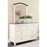 Woodanville - White/Brown - Bedroom Mirror