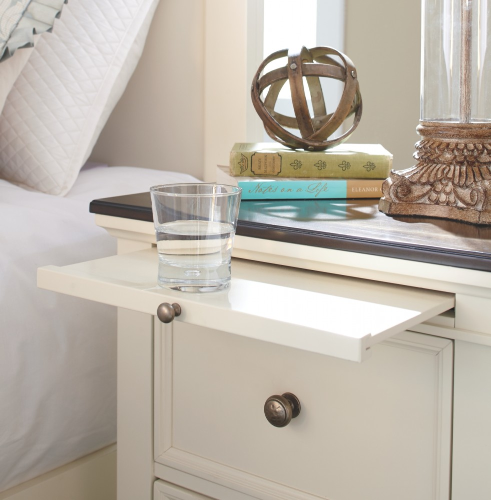 Woodanville White Brown Two Drawer Night Stand B623
