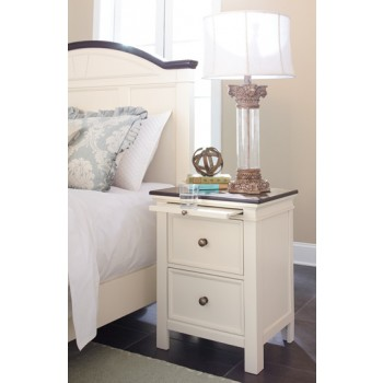 Woodanville - White/Brown - Two Drawer Night Stand