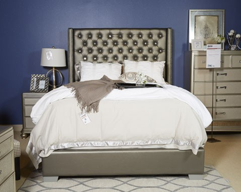 Coralayne - Silver - King UPH Footboard with Rails