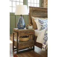 Sommerford - Brown - Two Drawer Night Stand