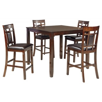 Bennox - Brown - DRM Counter Table Set (5/CN)
