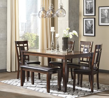 Exceptional Bennox   Brown   Dining Room Table Set (6/CN)