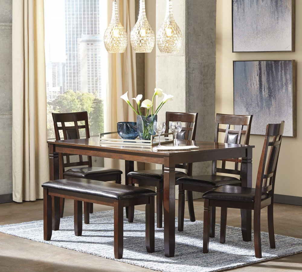 Bennox   Brown   Dining Room Table Set (6/CN)