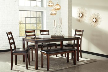 Coviar   Brown   Dining Room Table Set (6/CN)