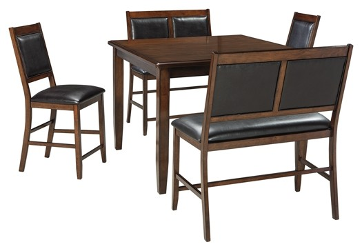 Meredy - Brown - DRM Counter Table Set (5/CN)