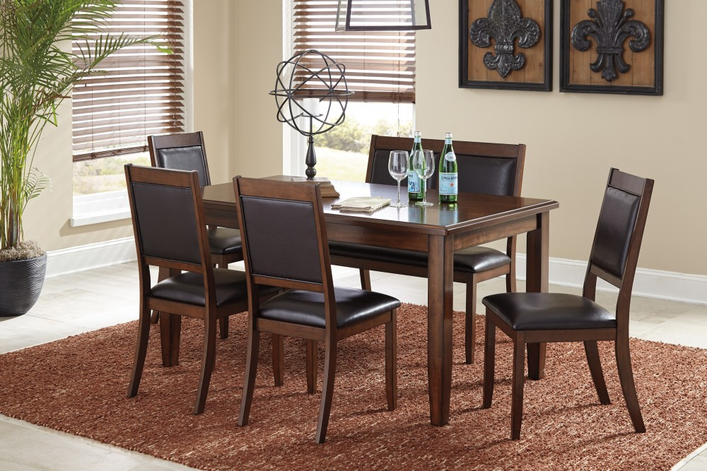Meredy   Brown   Dining Room Table Set (6/CN)