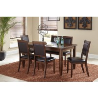 Meredy - Brown - Dining Room Table Set (6/CN)