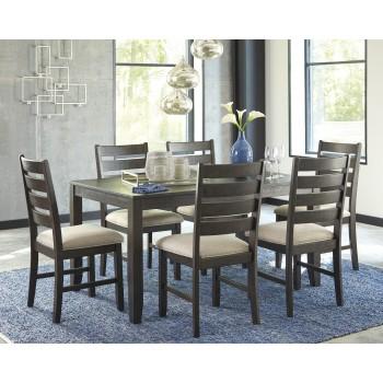 Rokane - Brown - Dining Room Table Set (7/CN)
