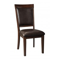 Shadyn - Brown - Dining UPH Side Chair (2/CN)