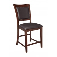 Collenburg - Dark Brown - Upholstered Barstool (2/CN)