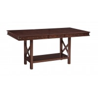 Collenburg - Dark Brown - RECT DRM Counter EXT Table
