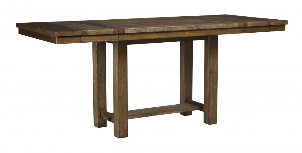 Moriville - Grayish Brown - RECT DRM Counter EXT Table