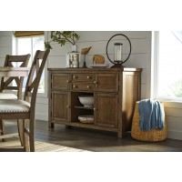Moriville - Grayish Brown - Dining Room Server