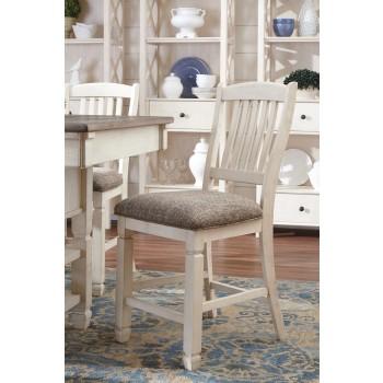 Bolanburg - Antique White - Upholstered Barstool (2/CN)