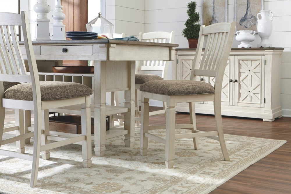 Cool Bolanburg Antique White Rect Dining Room Counter Table Pabps2019 Chair Design Images Pabps2019Com