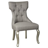 Coralayne - Silver Finish - Dining UPH Side Chair (2/CN)