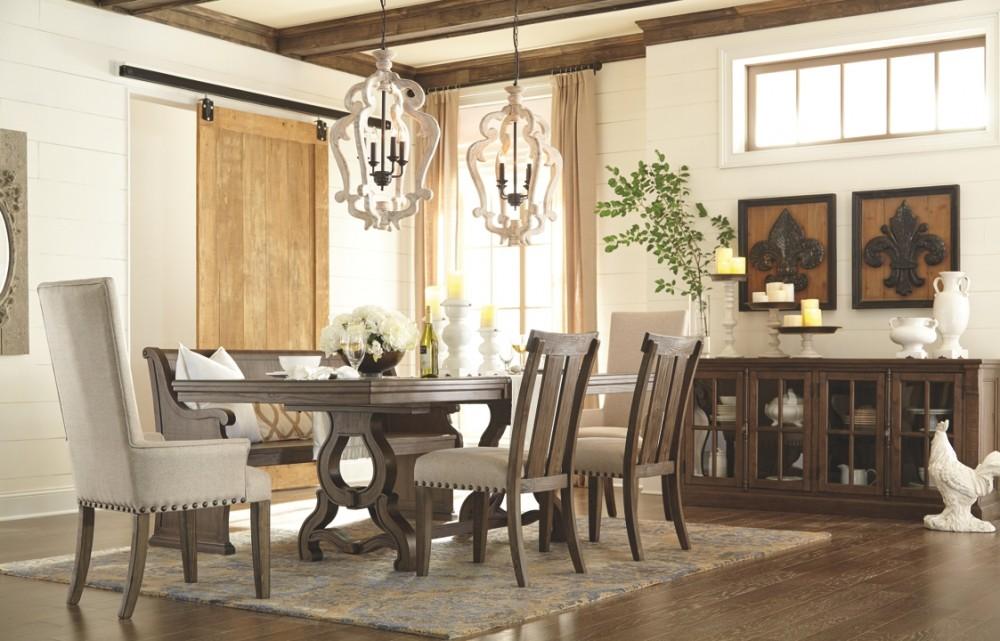 Wendota Grayish Brown Dining Uph Side Chair 2 Cn