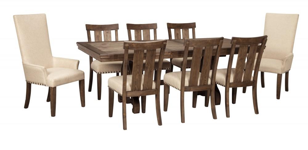 Wendota - Grayish Brown - Dining UPH Arm Chair (2/CN)   D746-02A ...
