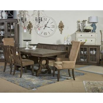 Wendota - Grayish Brown - Dining UPH Arm Chair (2/CN)