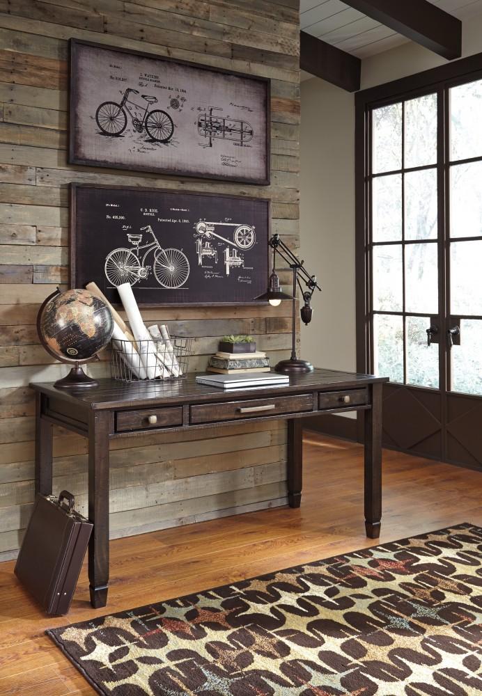 Townser - Grayish Brown - Home Office Desk