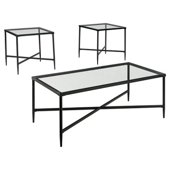 Augeron - Black - Occasional Table Set (3/CN)