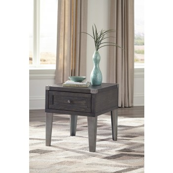 Todoe - Dark Gray - Rectangular End Table