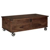 Norlandon - Medium Brown - Storage Cocktail Table