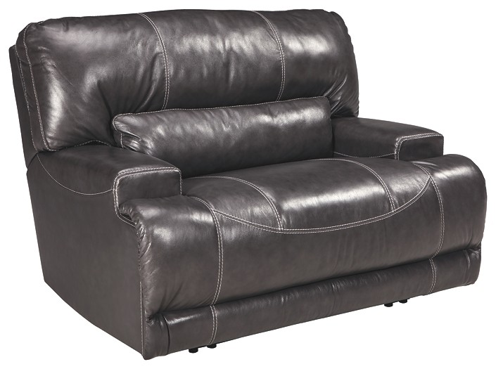 McCaskill - Gray - Wide Seat Power Recliner