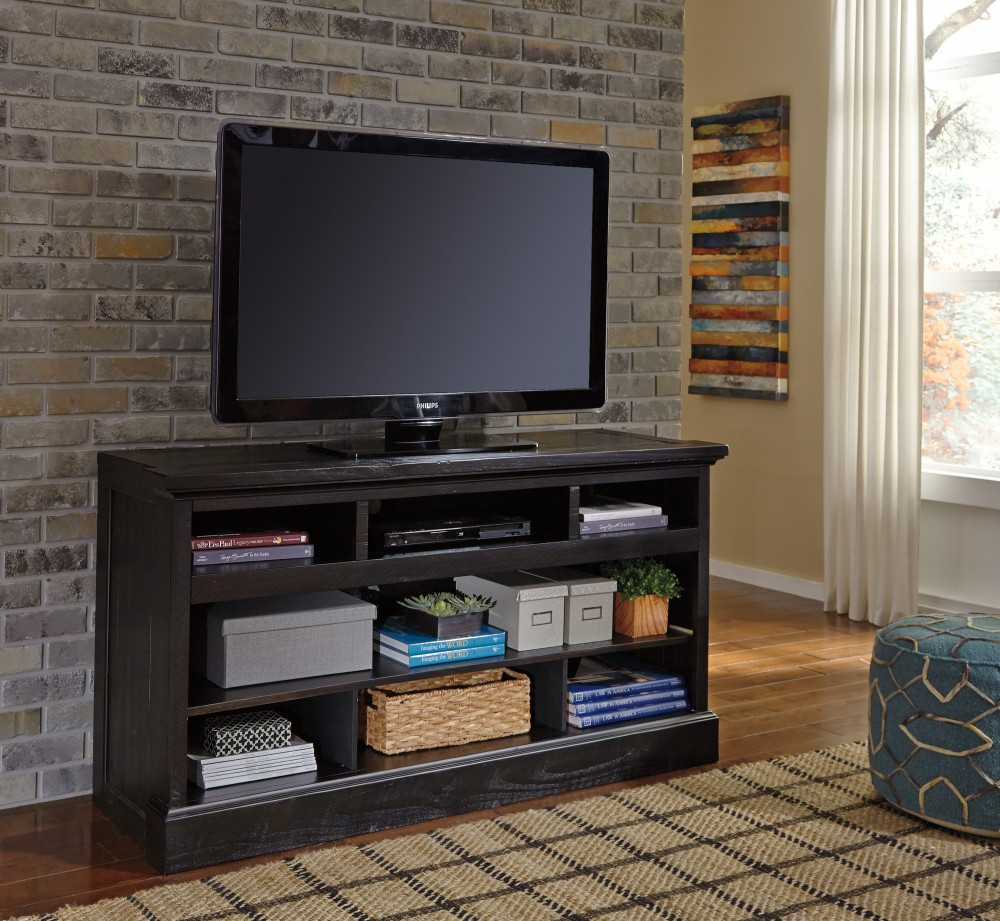 Sharlowe - Charcoal - LG TV Stand w/Fireplace Option
