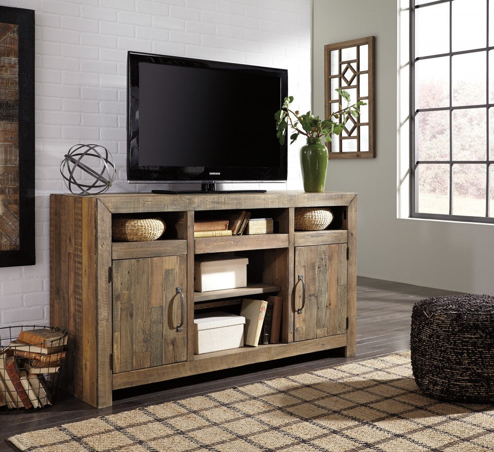 Sommerford - Brown - LG TV Stand w/Fireplace Option