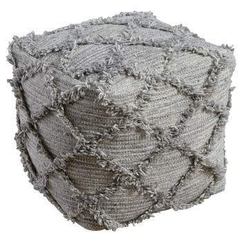 Adelphie - Natural/Gray - Pouf