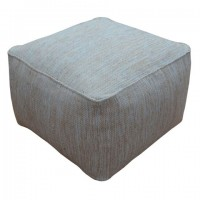 Damla - Natural/Blue - Pouf
