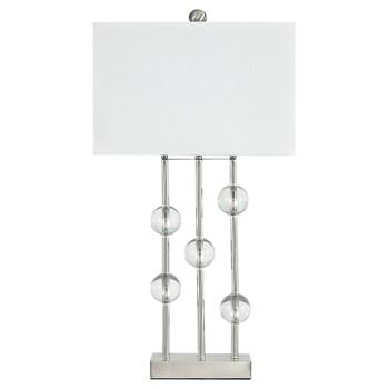 Jaala - Clear/Silver Finish - Metal Lamp (1/CN)