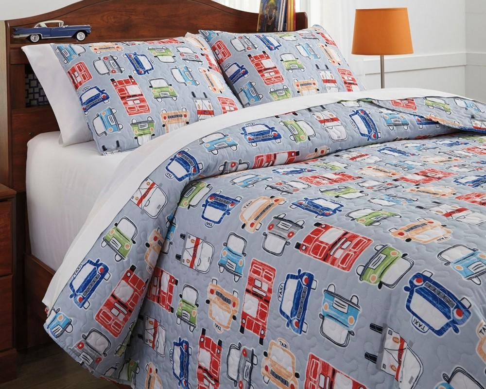 Beaverton   Multi   Full Quilt Set