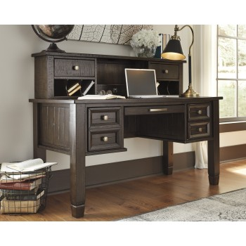 Townser Home Office Desk and Hutch
