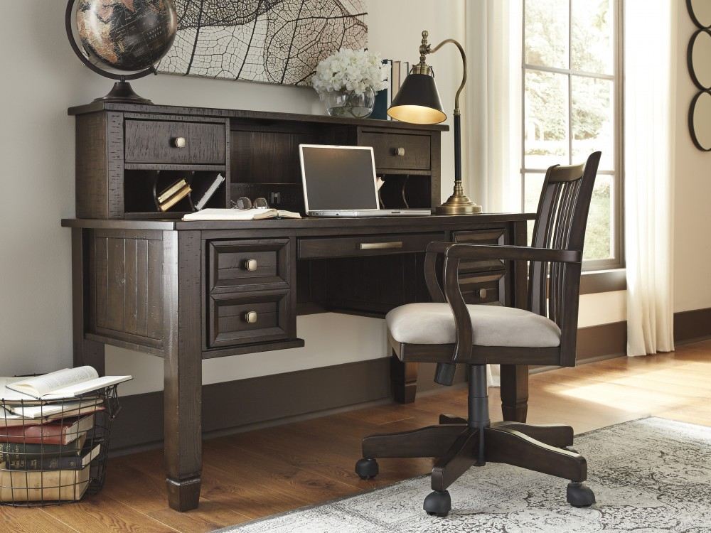 Townser Home Office Desk and Hutch, & Home Office Chair